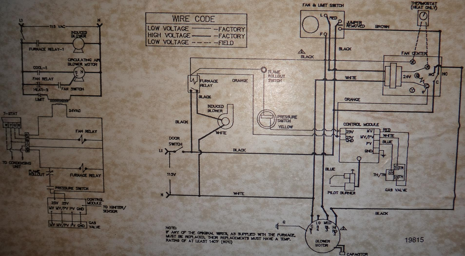 furnace fan wiring diagram 1994 ford f150 radio how does this switch the blower to high speed