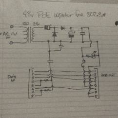 Gigabit Poe Wiring Diagram Cat5e Telephone Power Supply 802 3af Injector Circuit Electrical