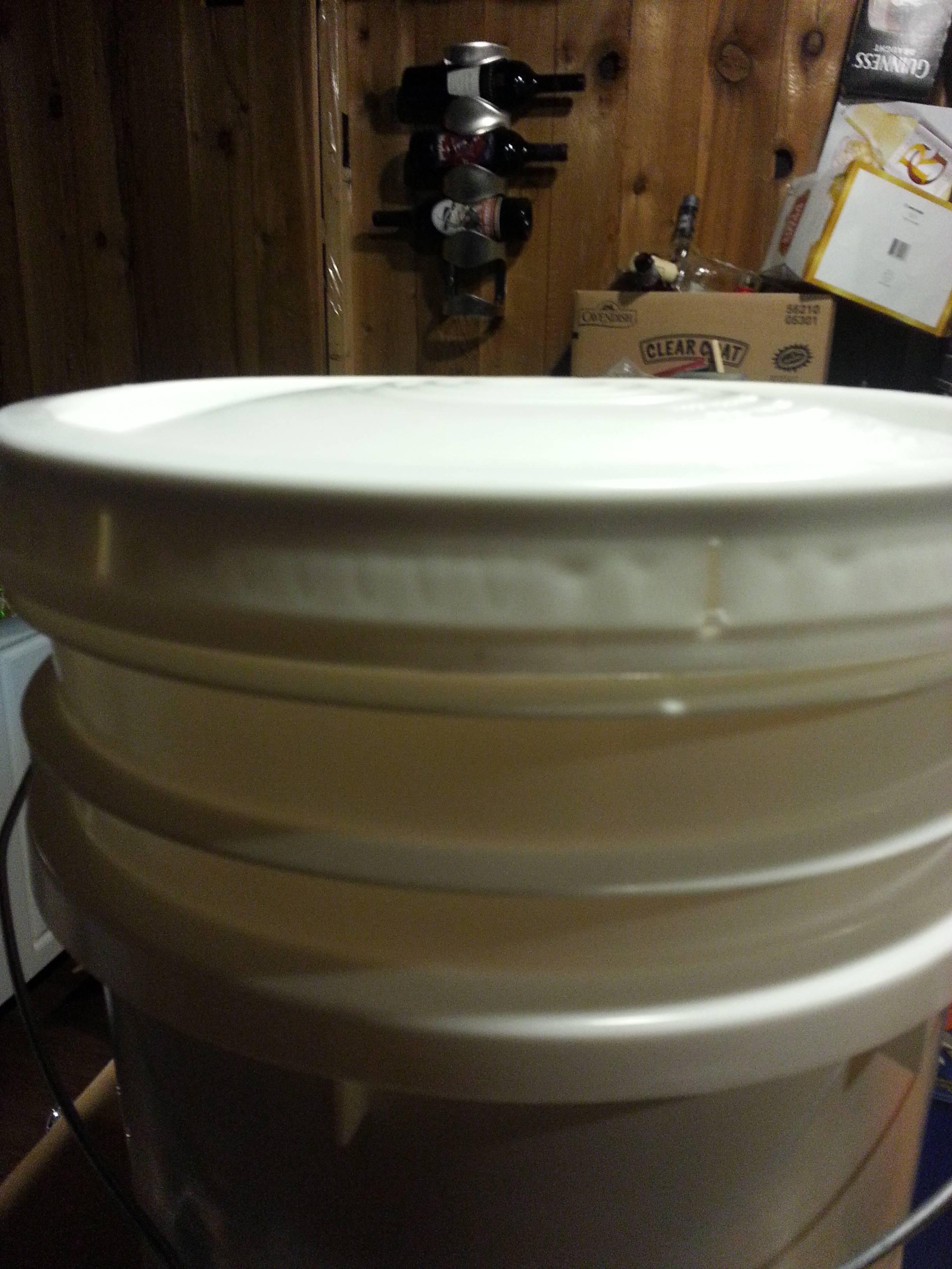 fermenter  first batch bucket lid is bulging