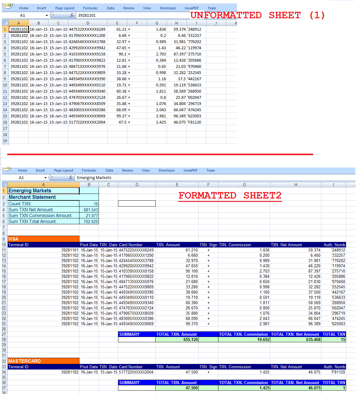 Excel Macro To Count And Sum Undefined Number Of Rows