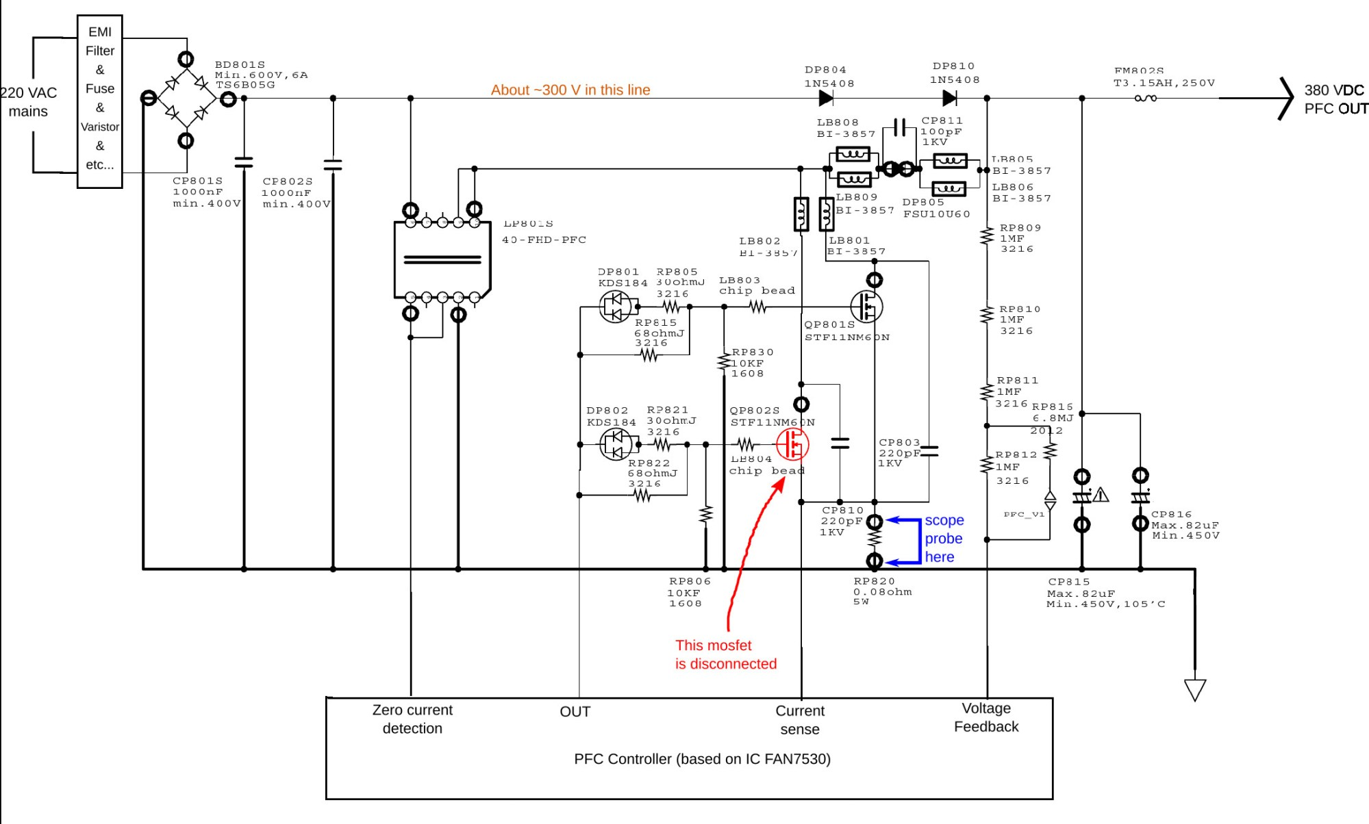 hight resolution of power supply partial schematic