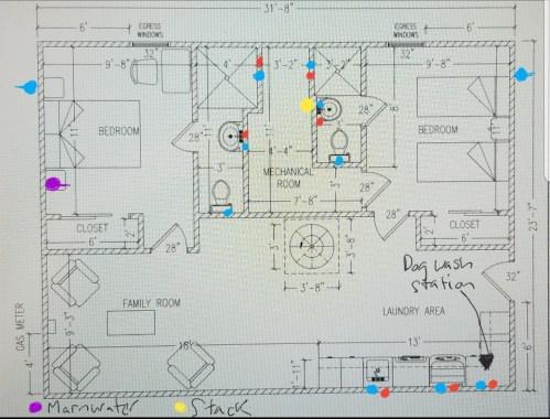 small resolution of  new basement floor plan