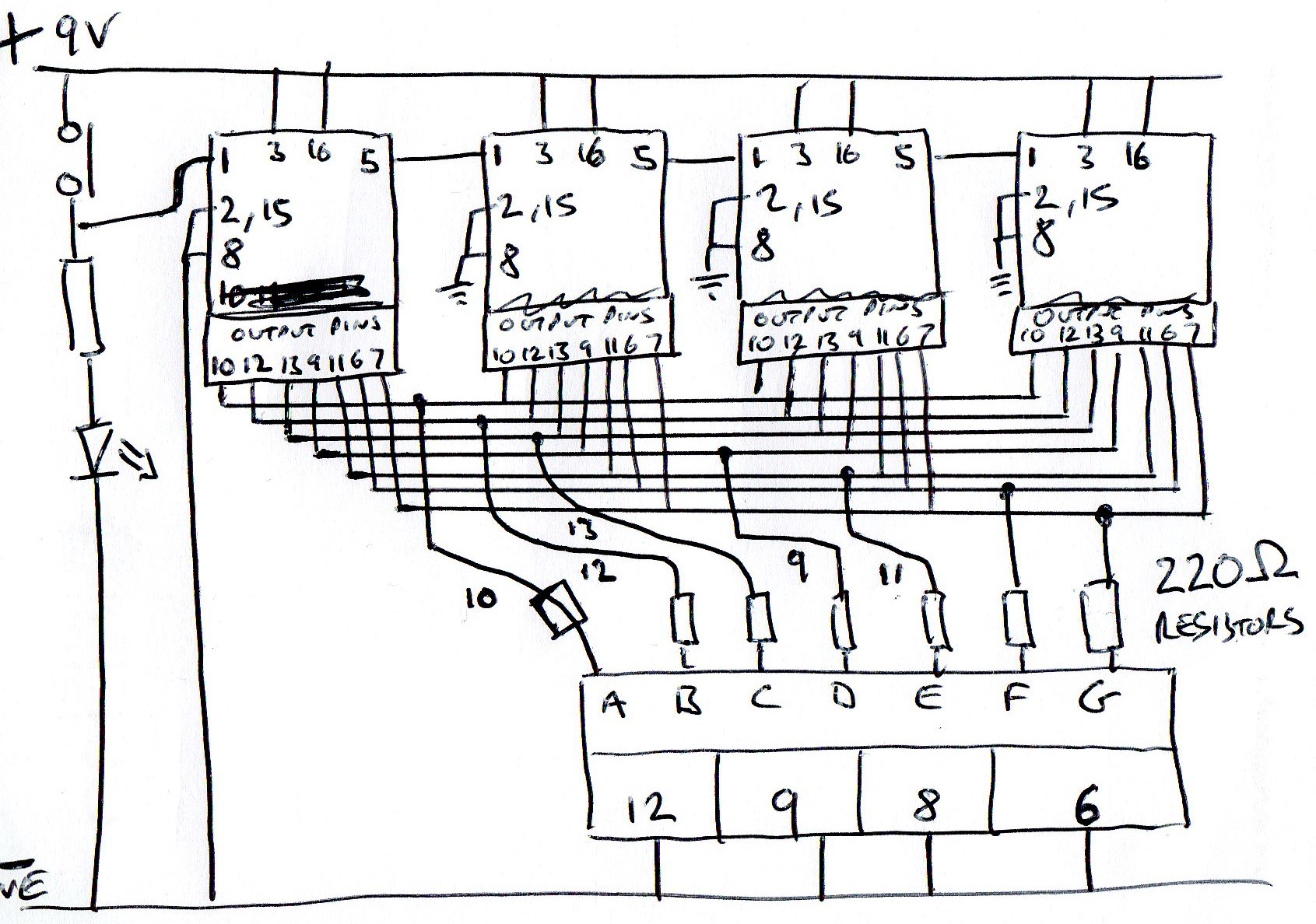 Arduino Seven Segment Display Wiring Diagram