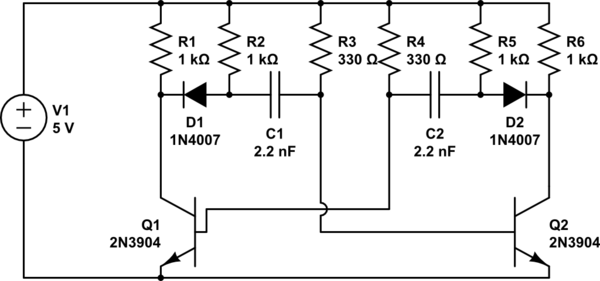 Astable Multivibrator I Circuit Diagram Tradeoficcom