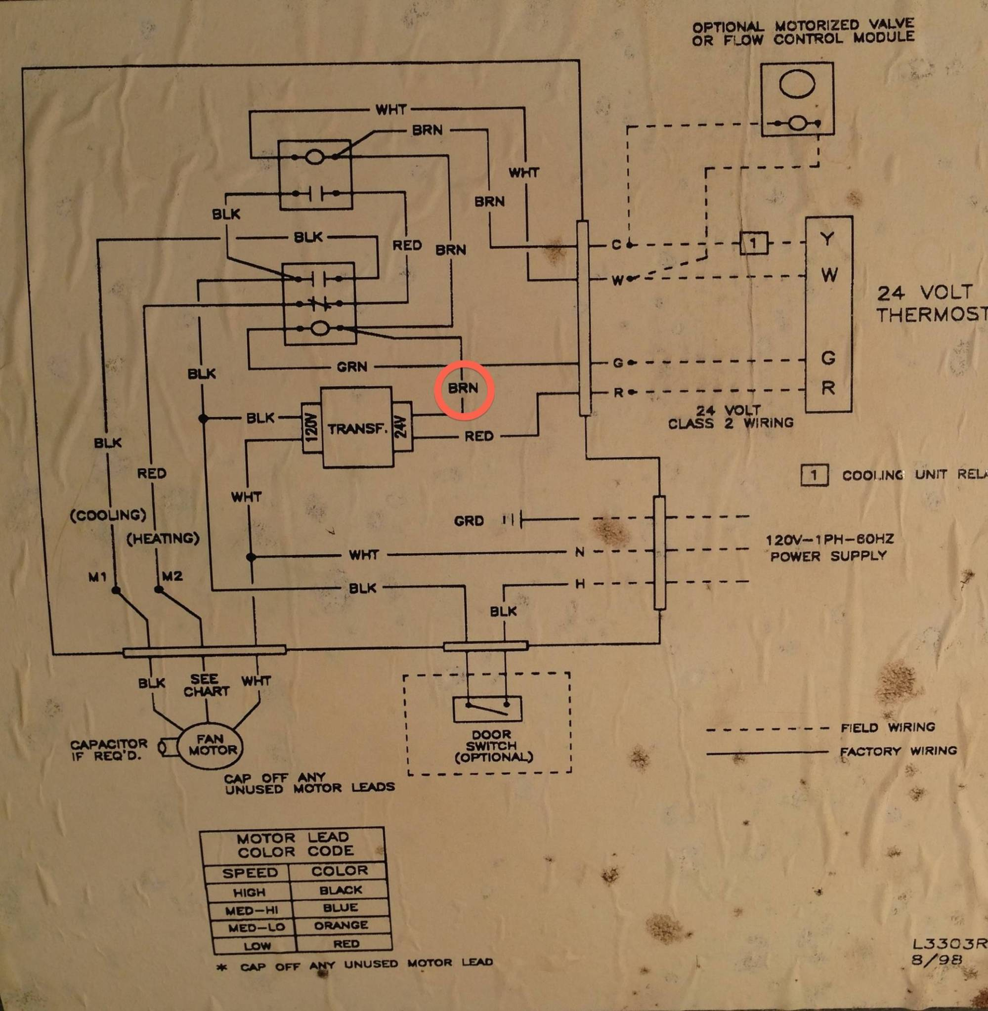 hight resolution of thermostat where to add c wire on this air handler home wiring diagram honeywell rth2300b share the knownledge