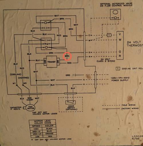 small resolution of thermostat where to add c wire on this air handler home wiring diagram honeywell rth2300b share the knownledge