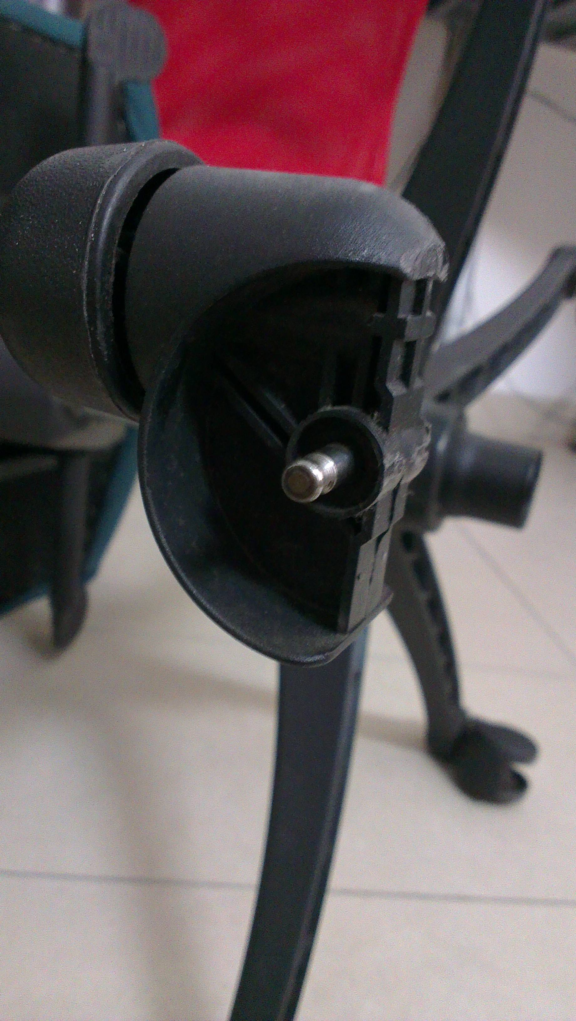 office chair repair one and a half sleeper how to replace wheel home
