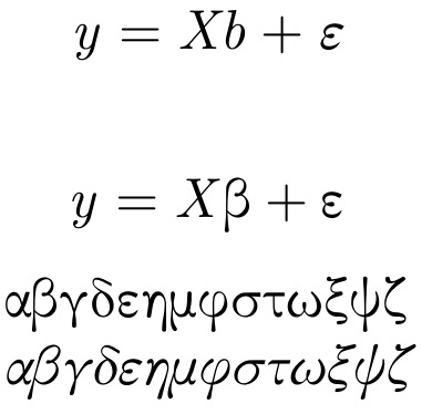 Italic greek letters become latin letters in math mode