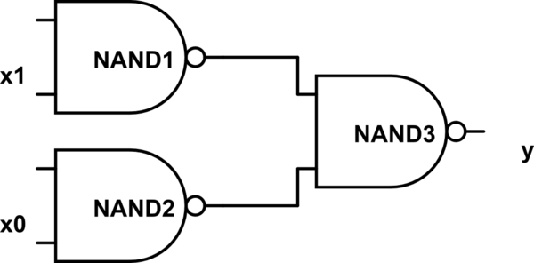 Build AND logic gate with 74'00 ICs (NAND) in negative