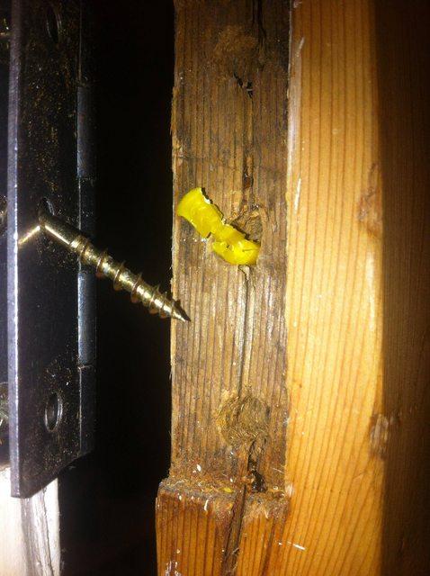 How do I repair a wooden doors hinge binding  Home Improvement Stack Exchange