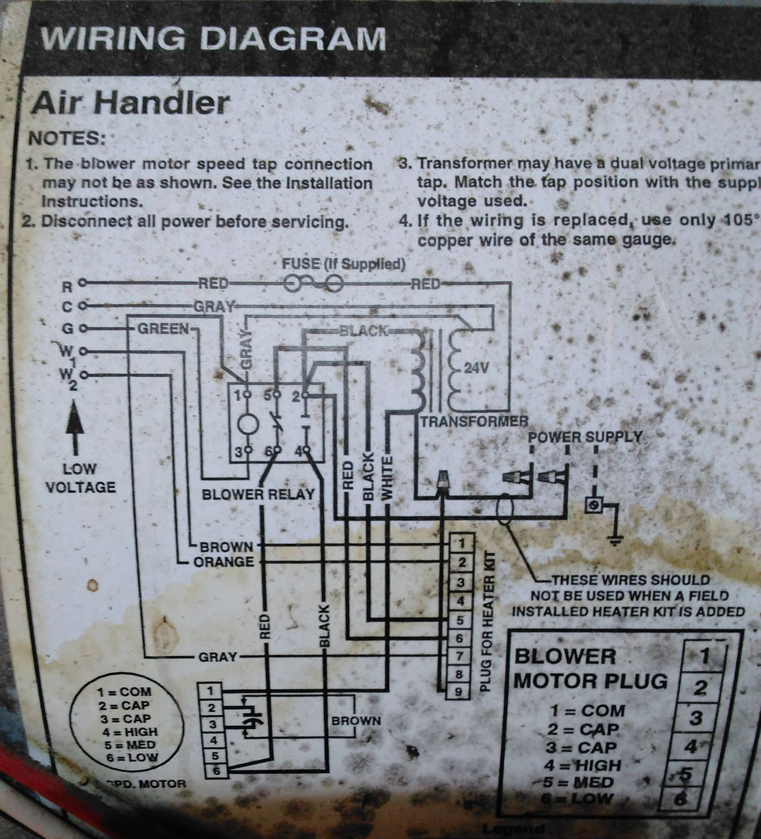 hvac transformer wiring diagram 2003 honda accord air handler dual path 29 images