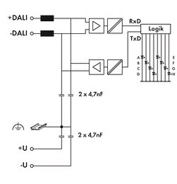 DALI Signal Voltage Range and Power Supply connection