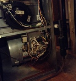 furnace with cover furnace without cover inside furnace panel blower motor [ 1296 x 968 Pixel ]