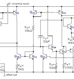 circuit diagram of a 741 enter image description here [ 1355 x 685 Pixel ]