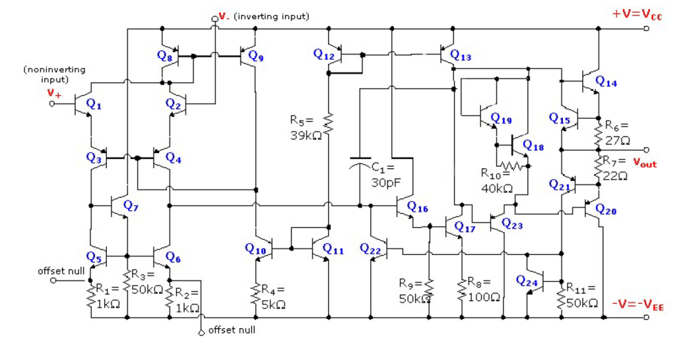 medium resolution of  circuit diagram of a 741 enter image description here