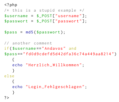 Is there a good definition for highlighting PHP code in
