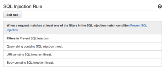SQL Injection Rule