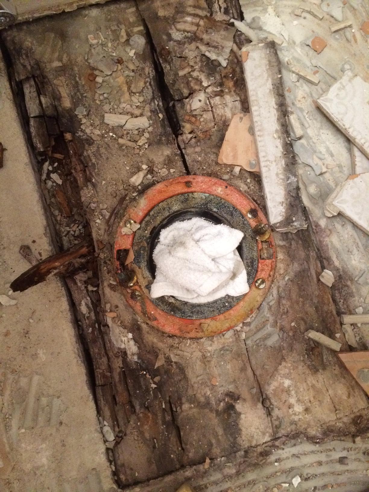 plumbing  How to prep gypcrete bathroom subfloor that has