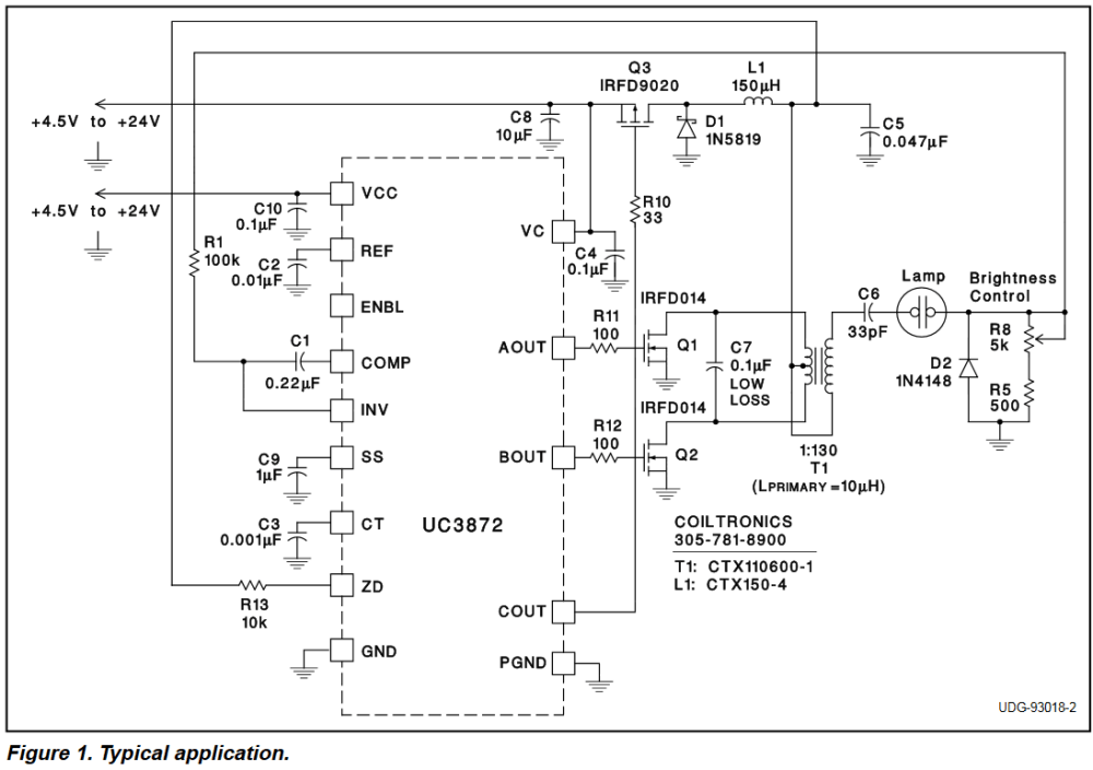 medium resolution of electronic ballast driving compact uv lamp with dc electrical uv lamp ballast circuit diagram