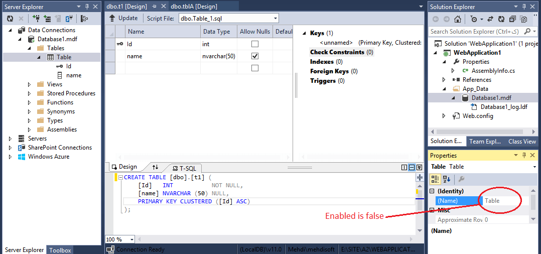 database diagram visual studio 2013 msd 6al wiring ford how to change the table name in design mode enter image description here