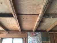 wood - How to remove ceiling joist cross blocks without ...