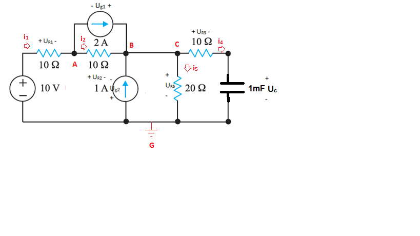 What are the voltage and current of the capacitor at t>0