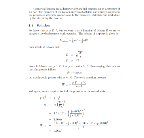 small resolution of derivation of the equation of the work done in a polytropic process