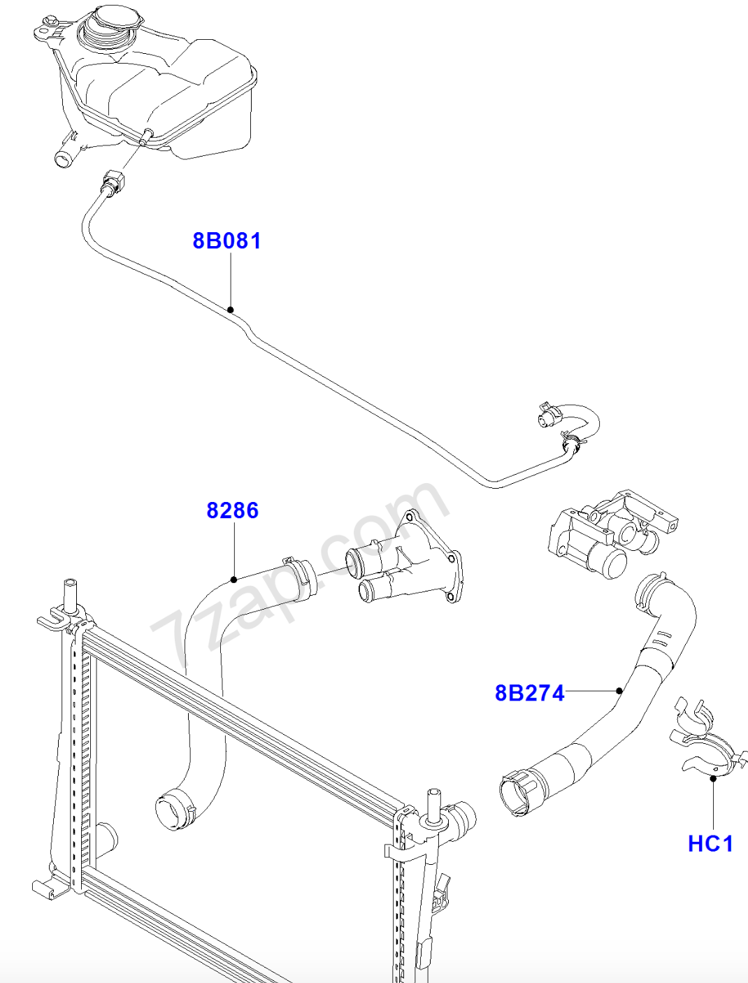 hight resolution of replacement ford fiesta radiator has extra hose motor vehicle 2003 ford escape radiator diagram ford radiator diagram