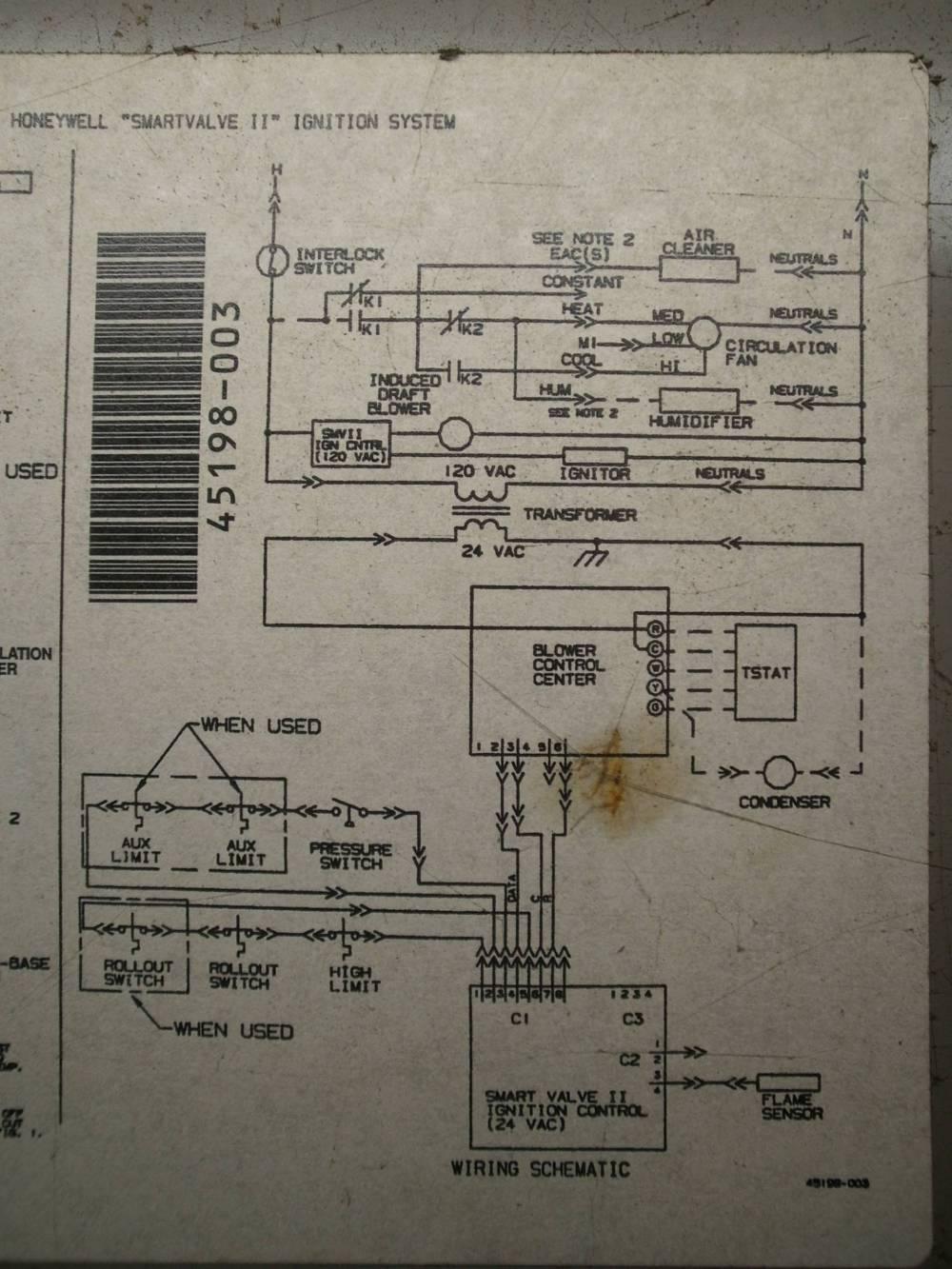 medium resolution of hvac troubleshoot ac issue no inside blower home improvement heil furnace board honeywell st9160b 1068 circuit board wiring diagrams