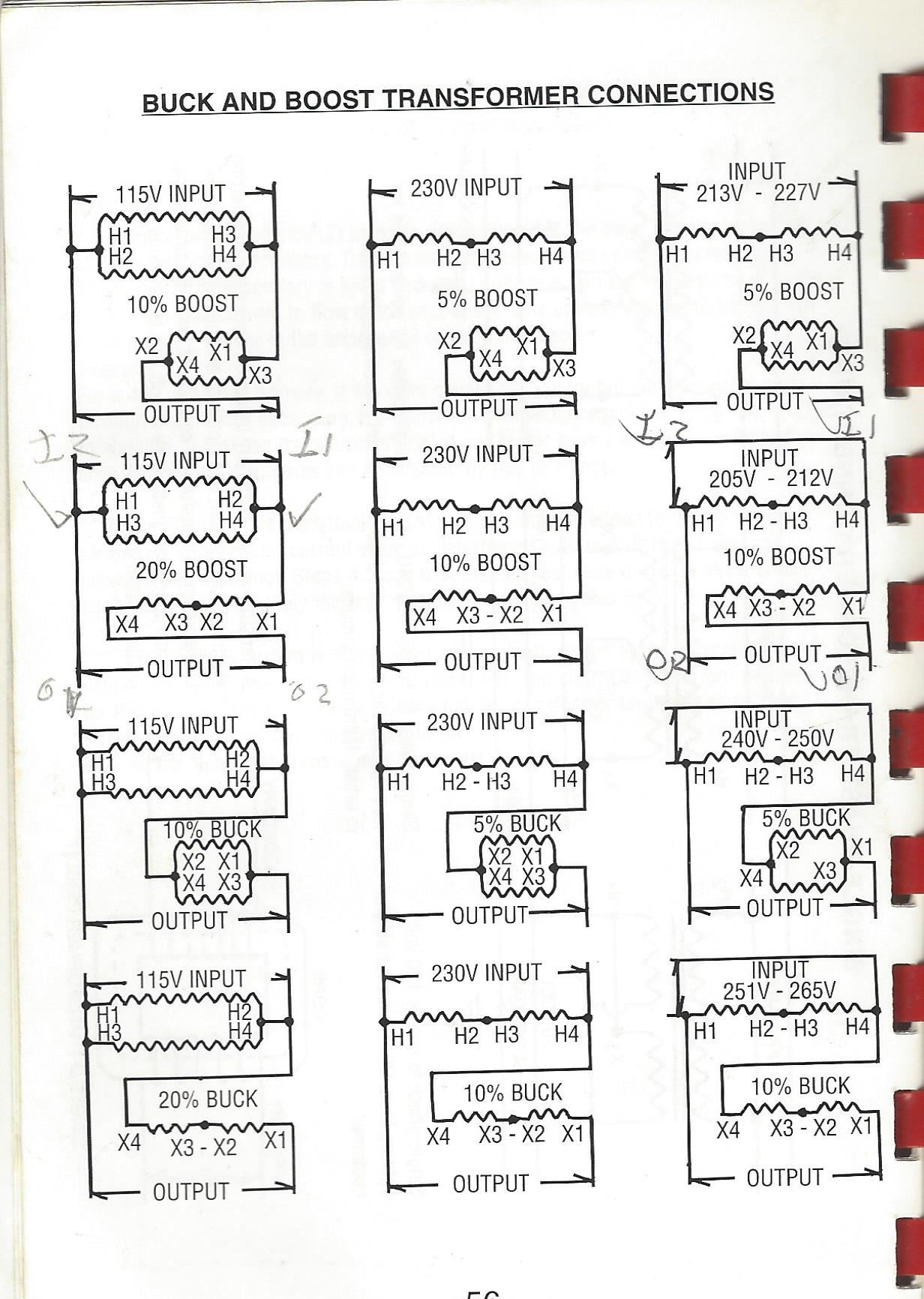 208v To 240v Buck Boost Transformer Wiring Diagram : boost, transformer, wiring, diagram, 208x240, Boost, Transformer, Putting, ~260v, Improvement, Stack, Exchange