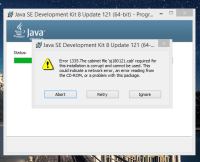 """java - How to fix """" Error 1335. The cabinet file 'sj180121 ..."""