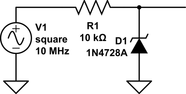 voltage simple rc circuit with diode question electrical