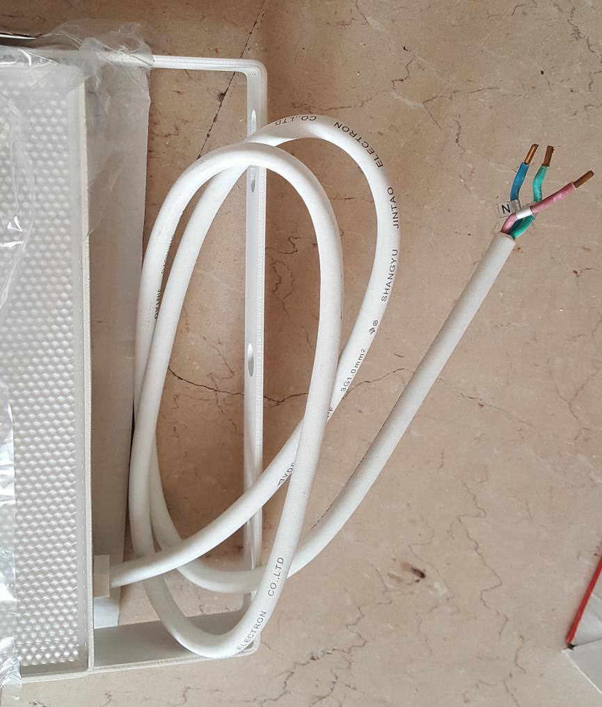 hight resolution of what would be a correct and aesthetic way to install the flood light electrical outdoor connectors