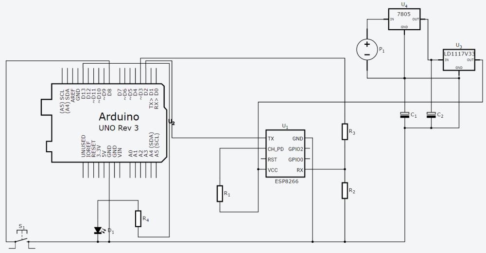 medium resolution of 12 v to 5 3 3 v regulator issue with arduino and esp8266