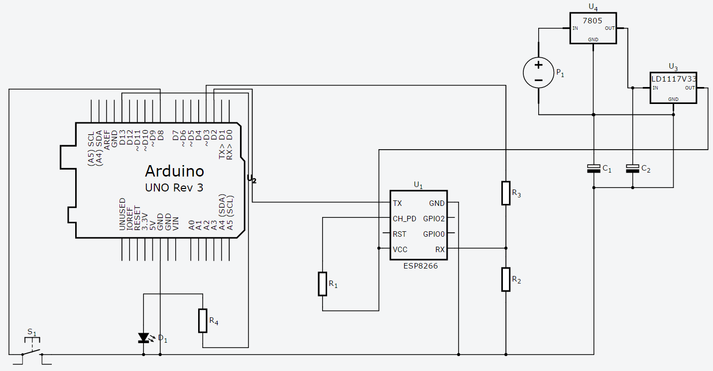 hight resolution of 12 v to 5 3 3 v regulator issue with arduino and esp8266