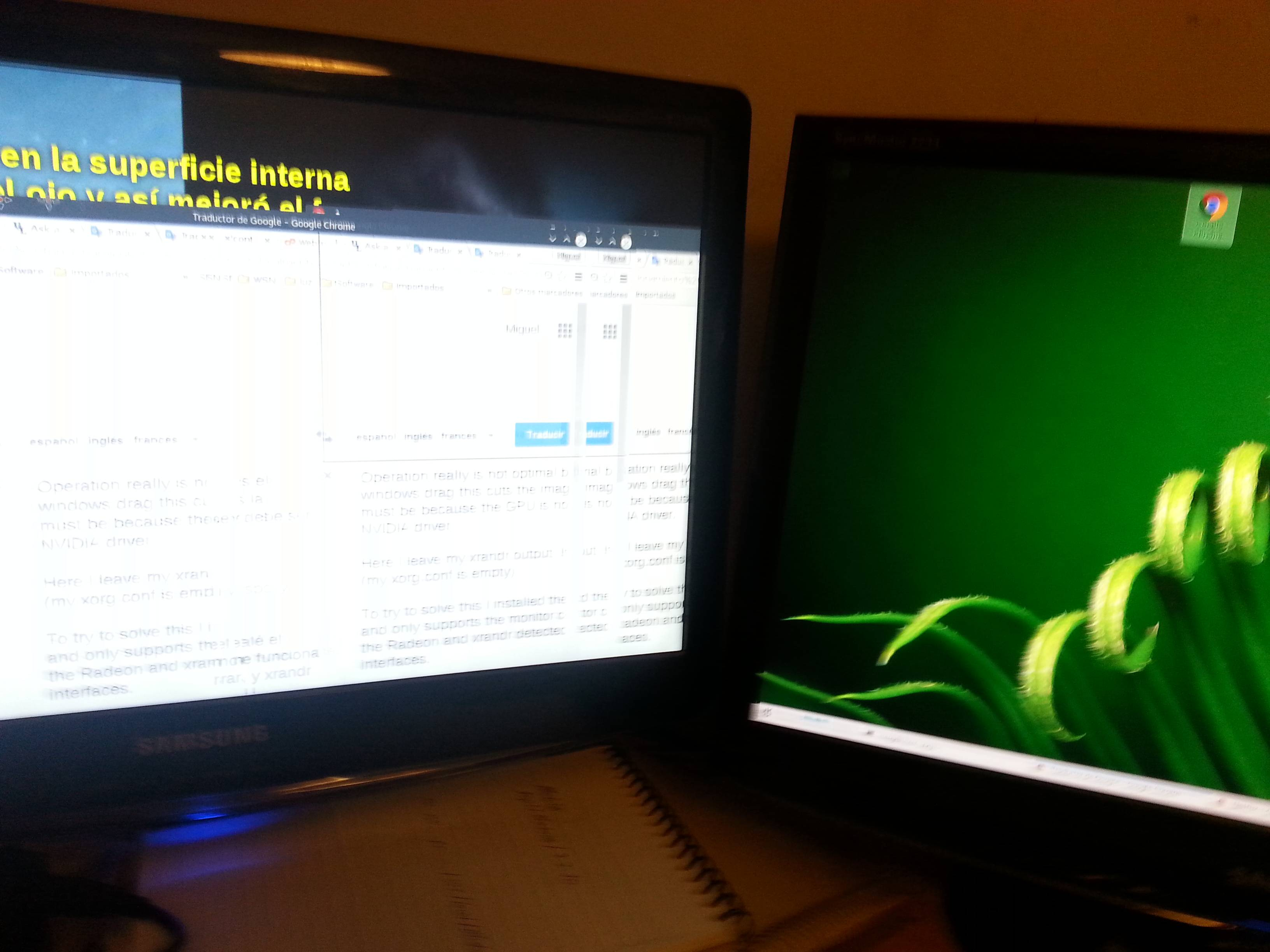 Three monitors on two video cards (NVIDIA and RADEON) - Unix & Linux Stack Exchange