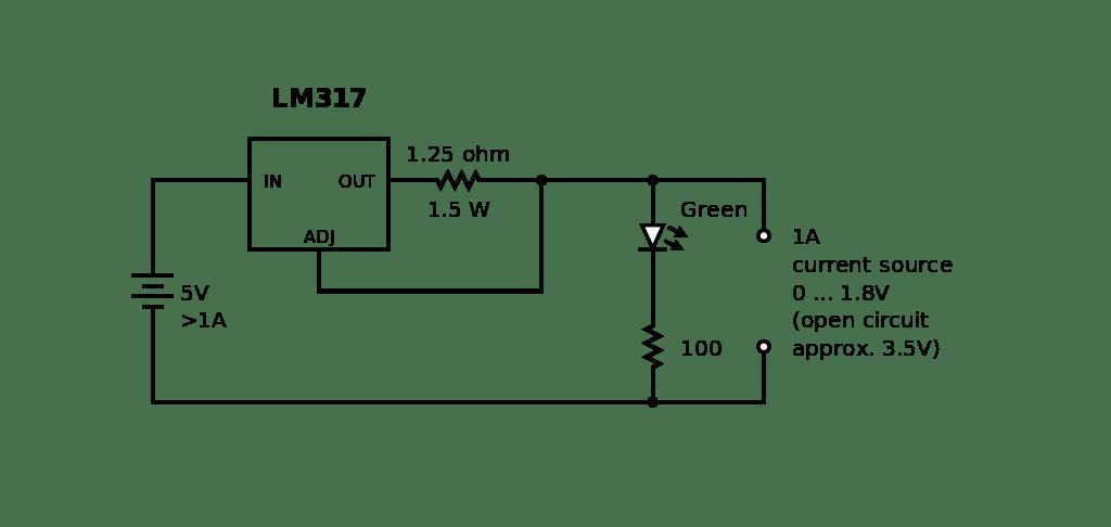Lm317 Current Source Sense Resistor