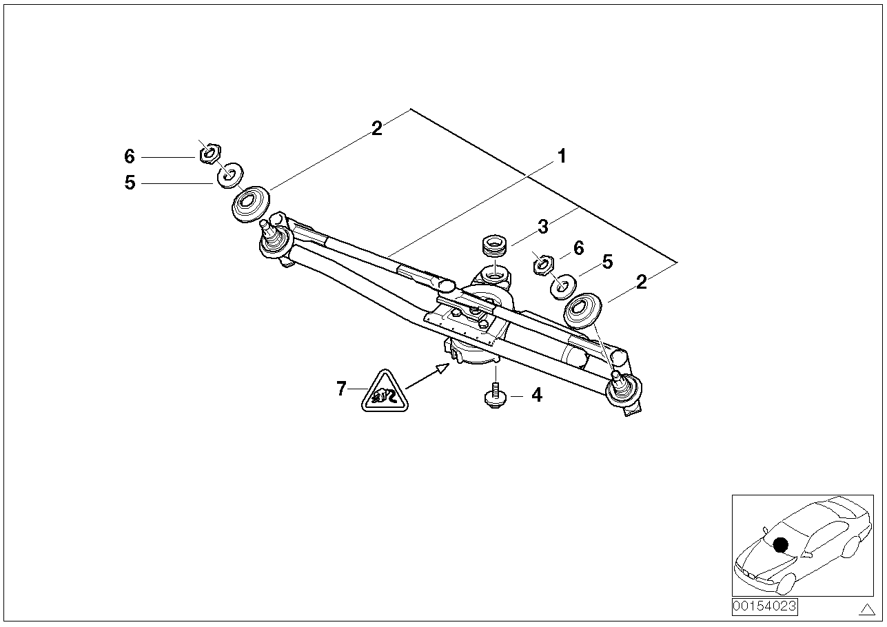 hight resolution of bmw e46 wiper linkage