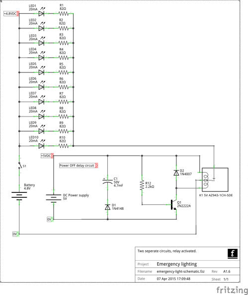 small resolution of corrections changed relay symbol to spst revision change changed parts designations emergency led lighting schematic