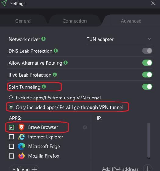 Proton VPN Settings