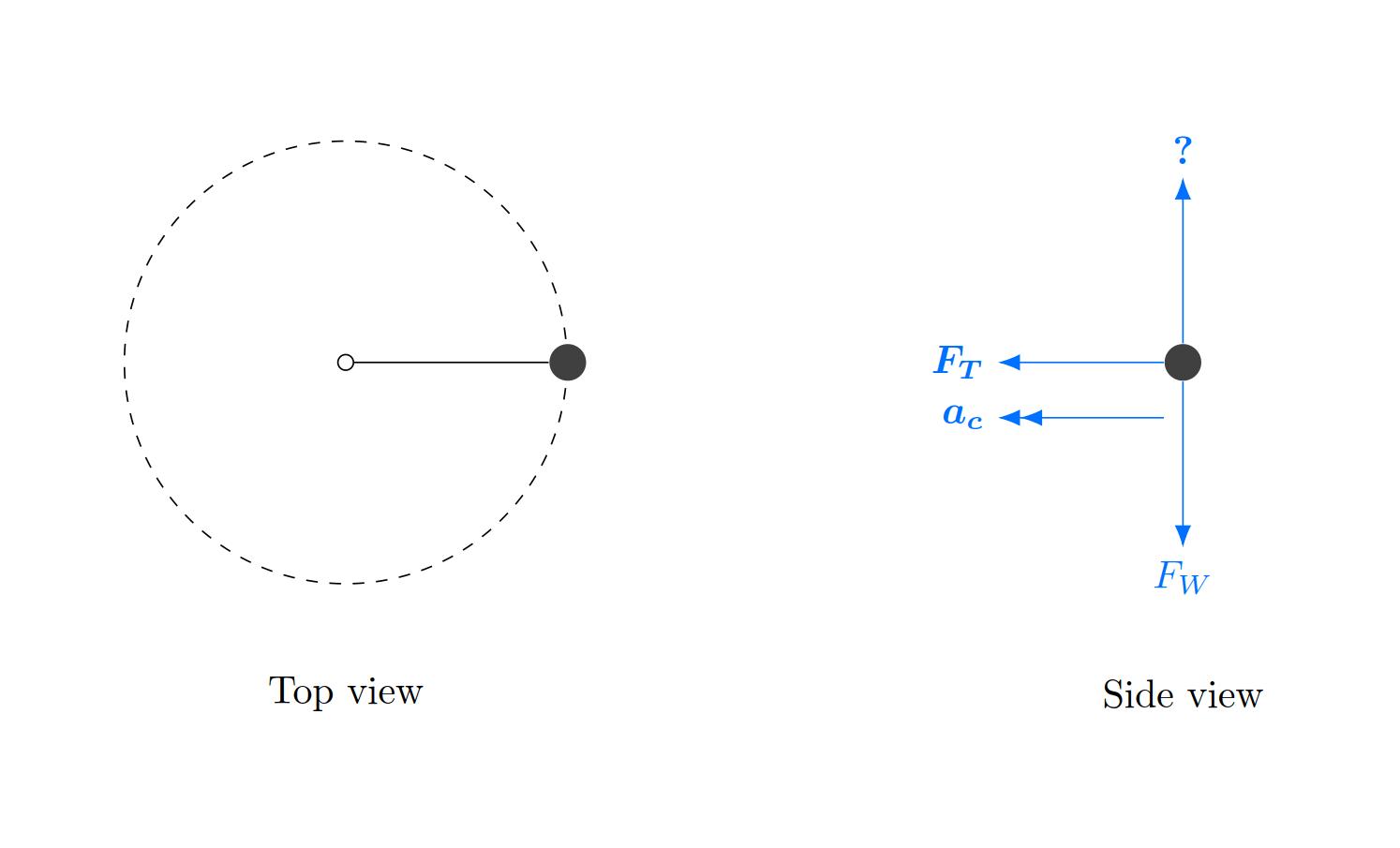 hight resolution of circular motion free body diagram
