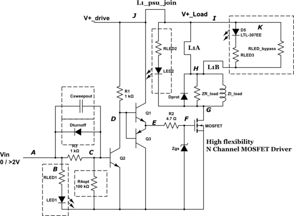 Non-inverting MOSFET switch circuit and alternatives