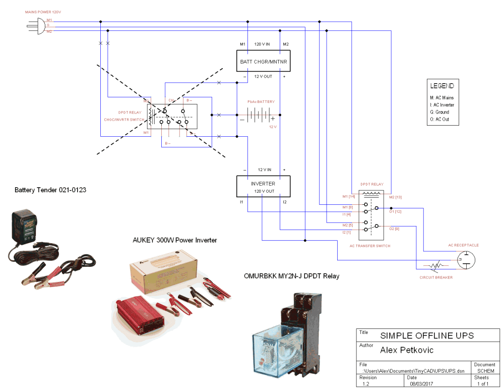 medium resolution of relay and power inverter wiring diagram wiring libraryenter image description here ups schematic relay mains inverter