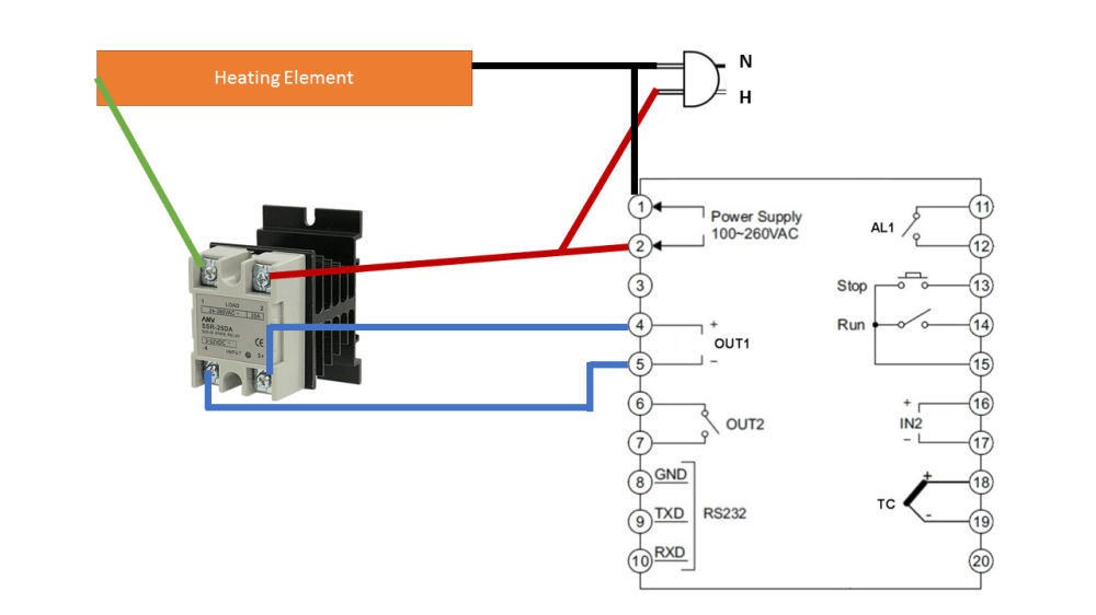 medium resolution of solid state relay connecting pid controller to ssr electrical wiring a truck enter image description here