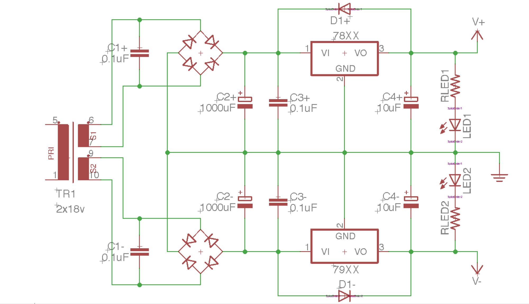 hight resolution of building a dual rail regulated dc power supply 1 diode bridge how to build dual regulated power supply circuit diagram