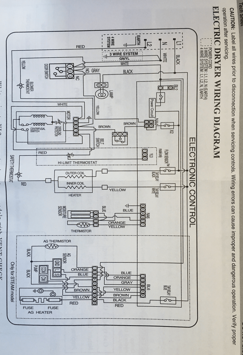 medium resolution of electrical schematic of dryer electrical dryer 240v 120 240v