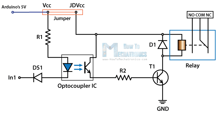 here is a crude circuit diagram for the relay board sorry for the