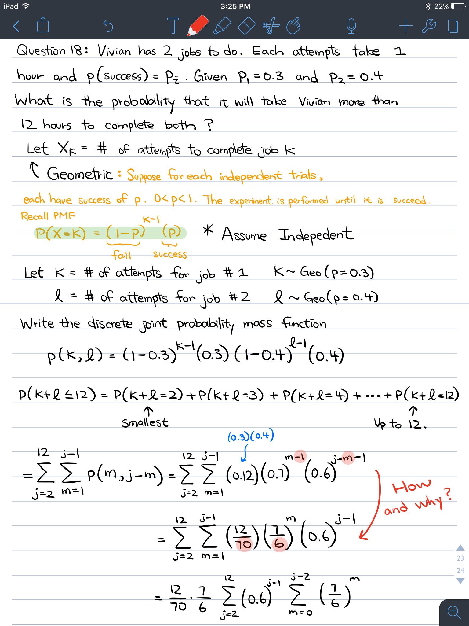 Algebra For Geometric Sum Problem