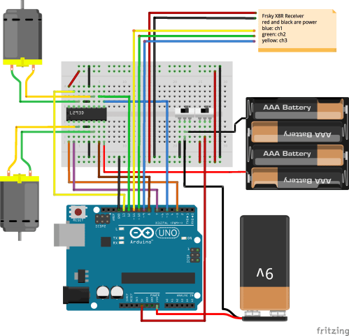 small resolution of fritzing wiring diagram of circuit with 9 volt and 6 volt grounds wired to same switch