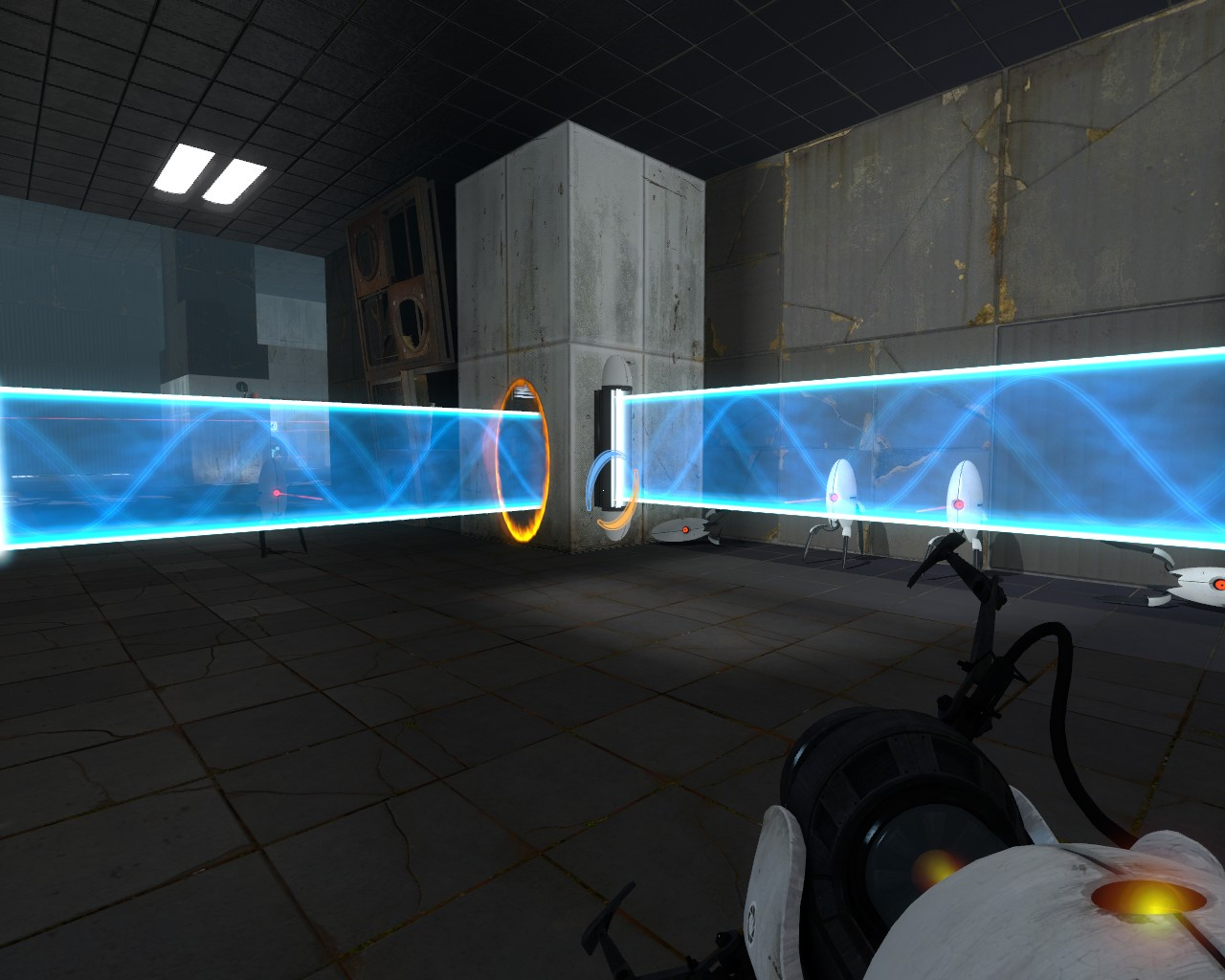 portal 2  How do I get past the turrets at the beginning of test chamber 15 chapter 3  Arqade